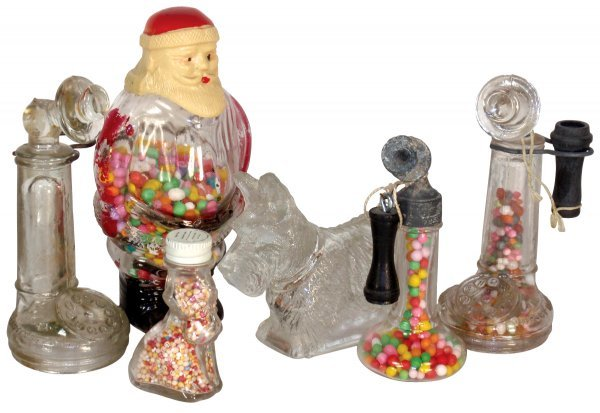 0005: Candy containers (6), Santa Claus-Millstein paper