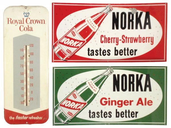 0022: Royal Crown Cola thermometer, c.1950's, Norka Gin