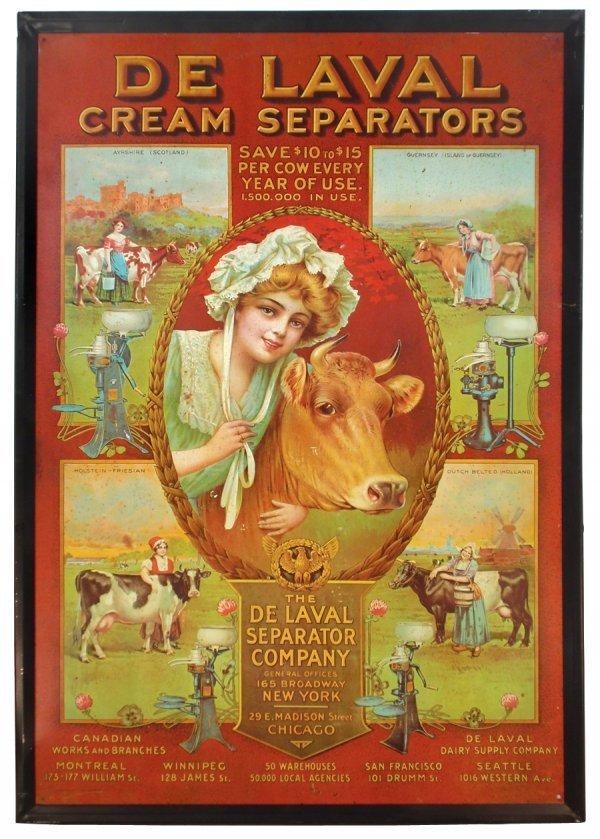 0024: De Laval Cream Separators sign, self-framed metal