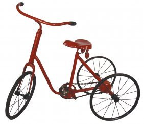 Tricycle, Girl's, Junior Tricycle Mfgd By The Jun
