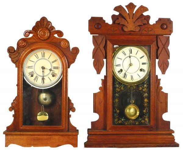 0107: Kitchen clocks (2),one mfgd by New Haven & other