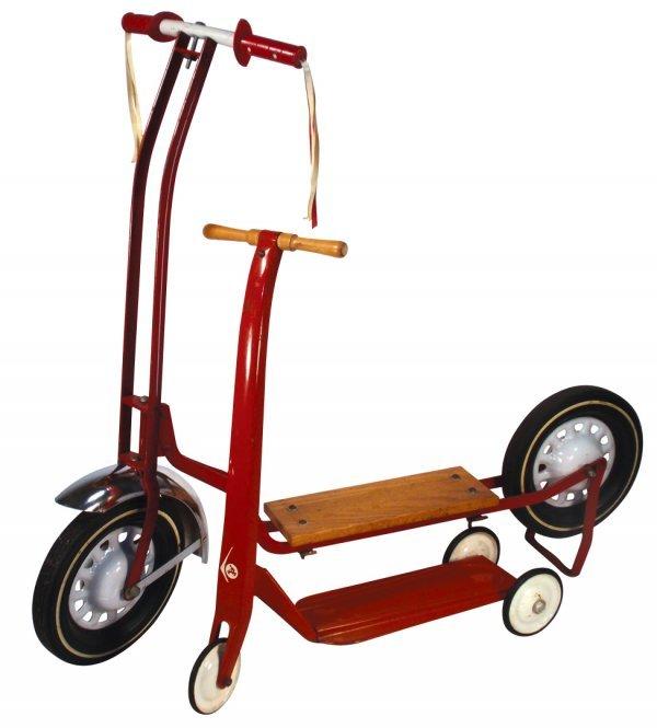 0111: Scooters (2), 2 & 3 wheelers, both steel, one w/w