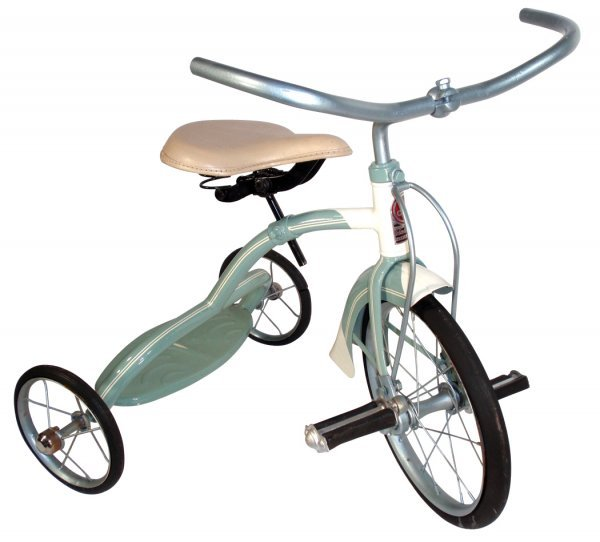 0114: Tricycle, 1940's Colson, steel, grey, Exc Restore