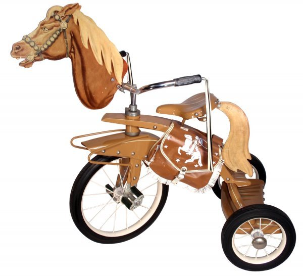 0115: Tricycle w/horse head, 1950's Spec-toy Products,