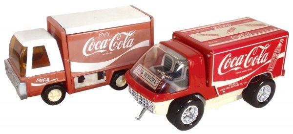 0116: Coca-Cola trucks (2), Big Wheel, battery-operated