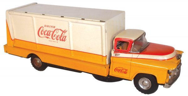0117: Coca-Cola truck, Allen Haddock, metal, battery op