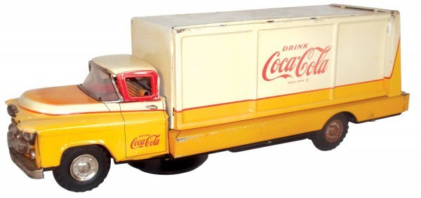 0118: Coca-Cola truck, Allen Haddock, metal, battery op