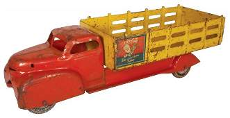 0121 CocaCola truck Marx large pressed steel delive