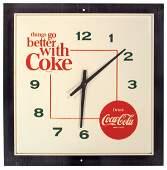"0126: Coca-Cola clock, ""things go better with Coke"", el"