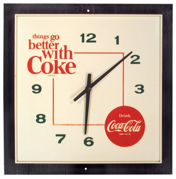 "0126: Coca-Cola clock, ""things go better with Coke"", el"