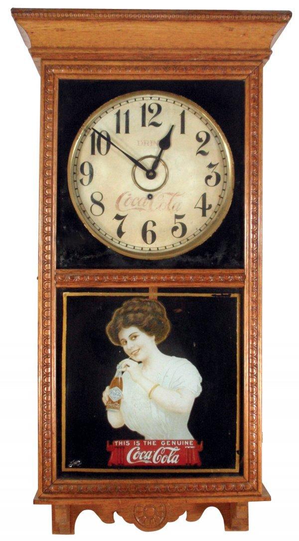 0456: Coca-Cola regulator clock, Gilbert, original Gibs