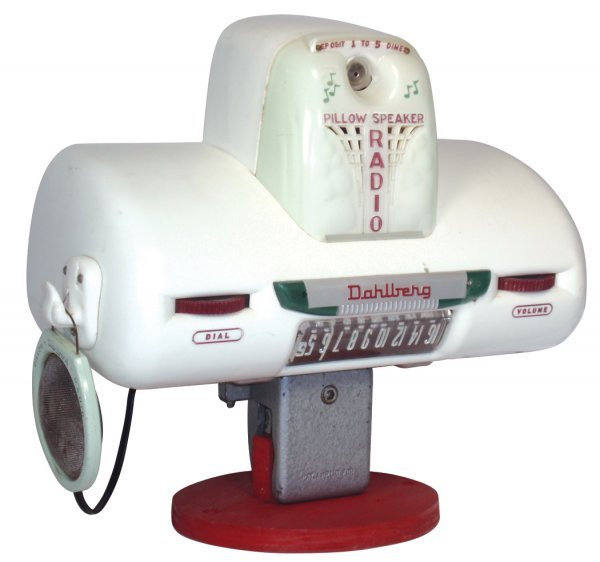 0614: Coin-operated radio, Dahlberg Model 430-D1 Pillow