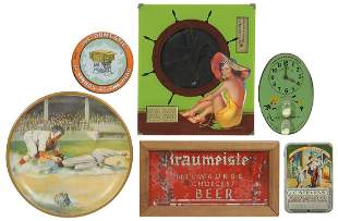 Advertising (6), Braumeister reverse painted small