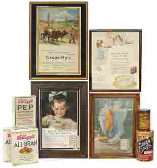 Advertising Breakfast Cereal Items (9), 3 Kellogg