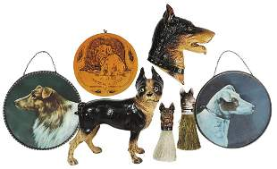 Novelty Dog Related Collectibles (7), fine cast iron