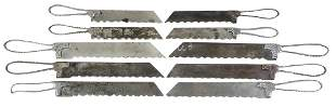 Kitchenware Bread or Cake Knives (10), all marked
