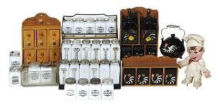 Kitchenware Spice Containers (9), various sets, a 5-pc