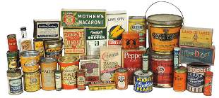 Advertising Food & Spice Containers (31), great variety