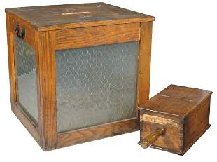 Americana (2), counter/table top ballot box, used in