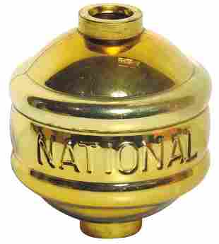 Lightning Rod Ball, National Belted Gold Mercury, Rare