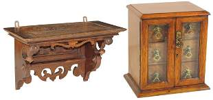 Victorian Wooden Wares (2), fine oak 3-drawer table