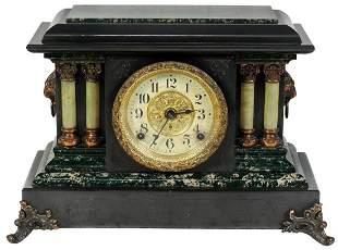 Victorian Mantle Clock, Seth Thomas Adamantine, green
