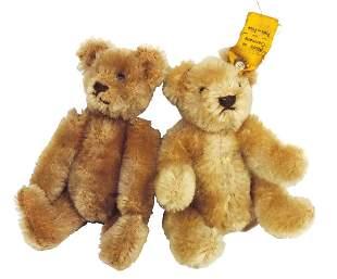 Toy Teddy Bears (2), miniature early German Steiff,