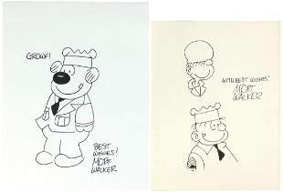 Cartoon Art (2), Beetle Bailey orig art by cartoonist