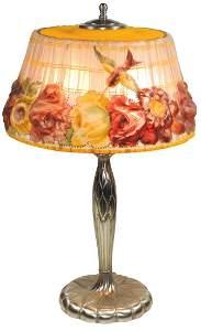 Lighting, Art Glass Lamp, Pairpoint Puffy Hummingbird &