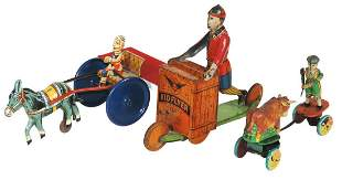 Toy Litho on Tin Windups (3), early B & R Kid Flyer,