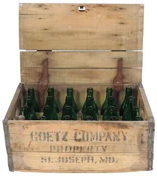 Breweriana Prohibition Era Bottles & Crate (25), 24