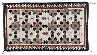 Native American Navajo Woven Rugs (2), hand-woven Two