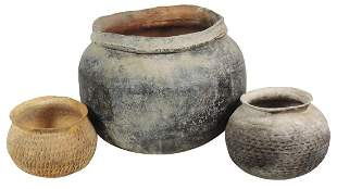 Native American Pre-Historic Pottery (3), Large Hohokam