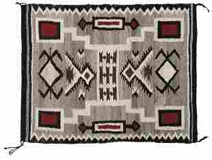 "Native American Rug, ""Two Faced"" woven Navajo, Scarce"