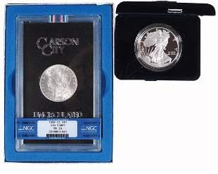 Coins, Silver Dollars (2), 1884 CC Morgan, GSA Hoard,