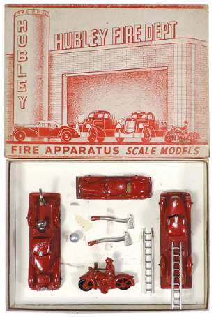 Toy Fire Department Boxed Set, No. 40, mfgd by Hubley