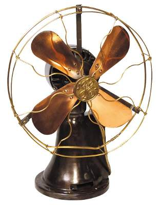 Coin-Operated General Electric 5 Cent Hotel Fan, cast