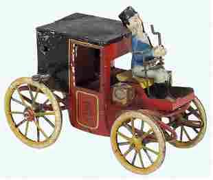 Toy Motor Coach w/Driver, mfgd by Lehmann-Germany,