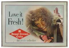 Soda Fountain Sign, Royal Crown Cola Love it Fresh,