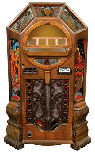 Coin-Operated Jukebox, Wurlitzer Victory model, cabinet