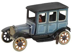 Toy Car, Sedan, Bing, c.1915, litho on tin w/key-wind