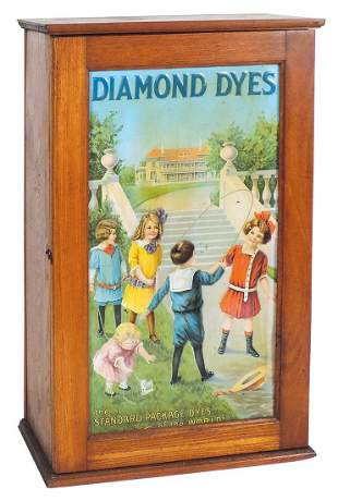 """Country Store Diamond Dyes Cabinet, """"Mansion"""" or"""