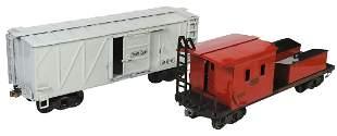 Toy Train, Buddy L (2), pressed steel, tool car &