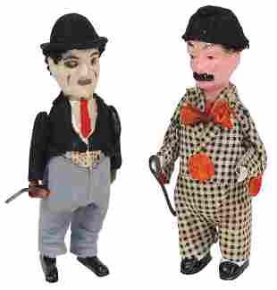 Toys (2), Charlie Chaplin Windups, unmarked Schuco &