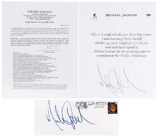 Michael Jackson Personally Signed Tribute Cover, boldly
