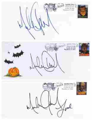 Michael Jackson Personally Signed Tribute Covers (3).