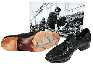 Michael Jackson Worn & Signed Loafers, Madame Tussauds