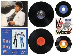 Michael Jackson Vinyl Records (5), includes (3) 33 1/3