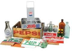 Soda Fountain Items (12), Coca-Cola aluminum 6-bottle