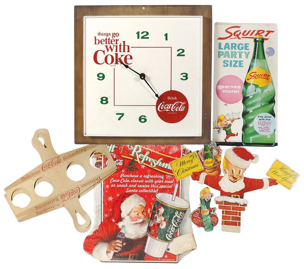 Coca-Cola (7), plastic battery-operated things go